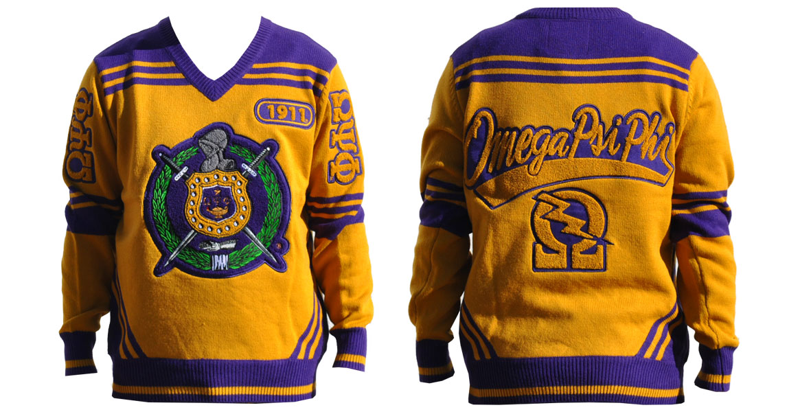 Omega Psi Phi V Neck Sweater Creative Expressions